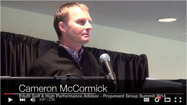 "2015 PGA Teacher of the Year & Coach to Jordan Spieth Cameron McCormick on ""Why Edufii"""
